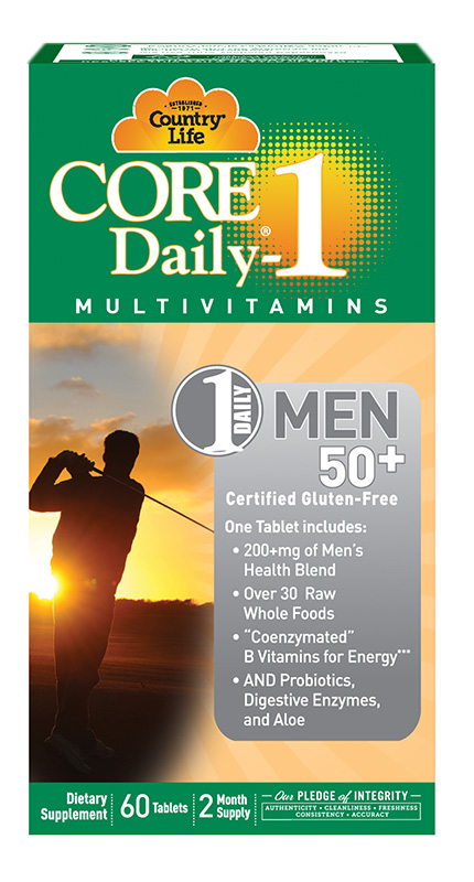 Country Life Core Daily 1 Men'S 60Caps