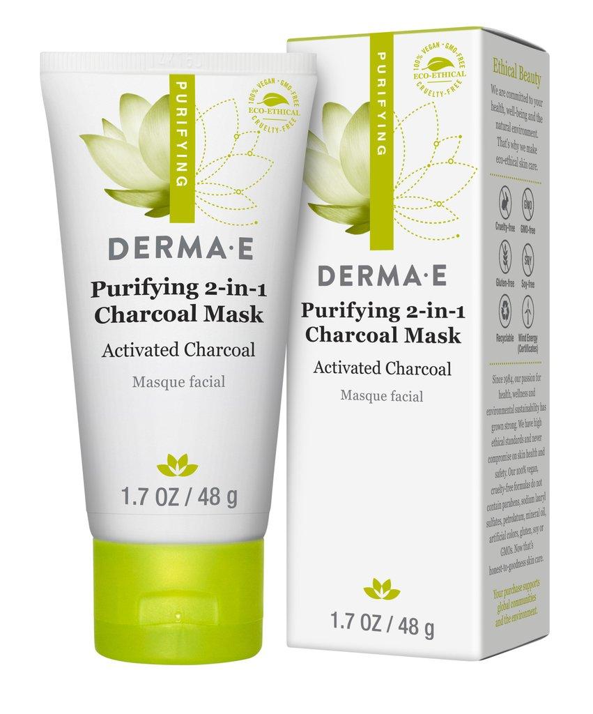 Derma E Purifying 2-In-1 Charcoal Mask 1.7Oz/48G #1220