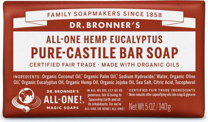 Dr Bron M Soap Org Bar 5Oz/140Gm Eucalyptus Obeu05