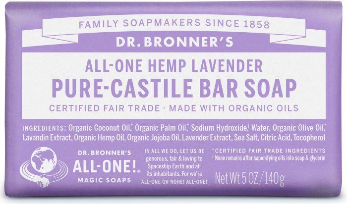Dr Bron M Soap Org Bar 5Oz/140Gm Lavender Obla05
