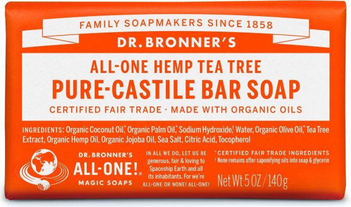 Dr Bron M Soap Org Bar 5Oz/140Gm Ttree Obtt05
