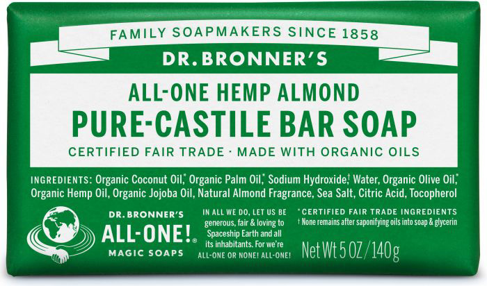 Dr Bron M Soap Org Bar 5Oz/ 140Gm Almond Obal05