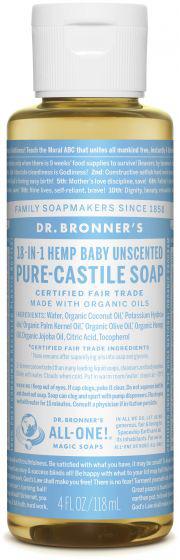 Dr Bron M Soap Org Liq Baby Mild 4Oz/118Ml#Olba04