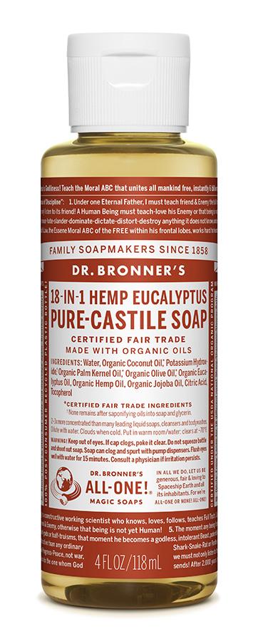 Dr Bron M Soap Org Liq Eucalyptus 4Oz/118Ml#Oleu04