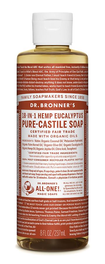 Dr Bron M Soap Org Liq Eucalyptus 8Oz/237Ml Oleu08