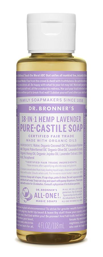 Dr Bron M Soap Org Liq Lavender 4Oz/118Ml#Olla04
