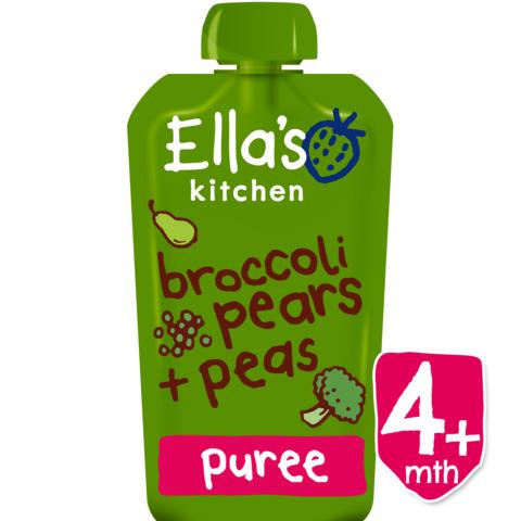 Ella'S Kitchen Org Broccoli Pears+Peas 120G