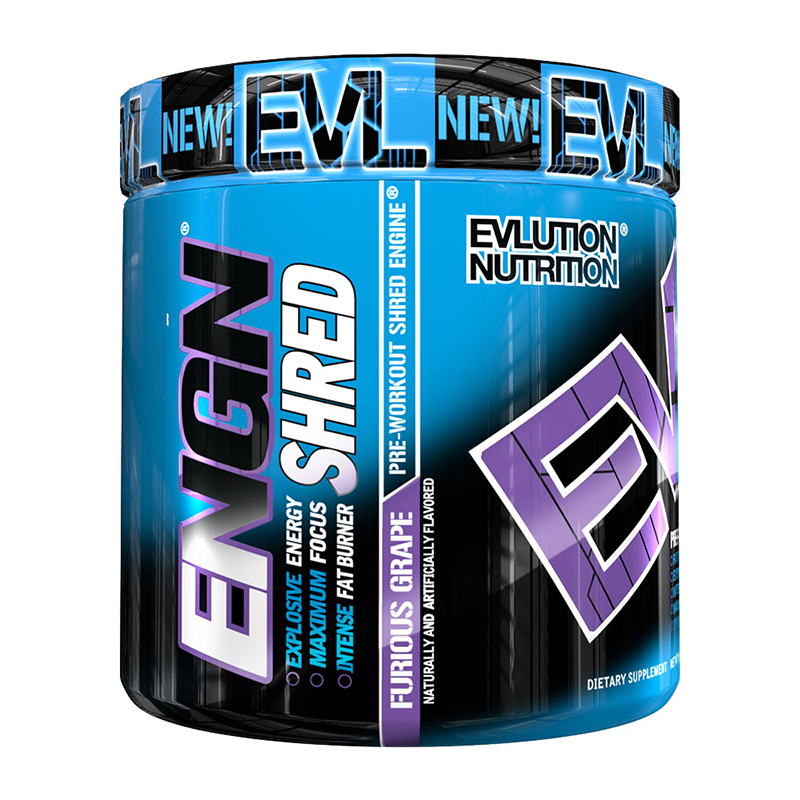 Evl Engn Shred Pre-Workout Furious Grape 30Sv 222G #Engnshfg30
