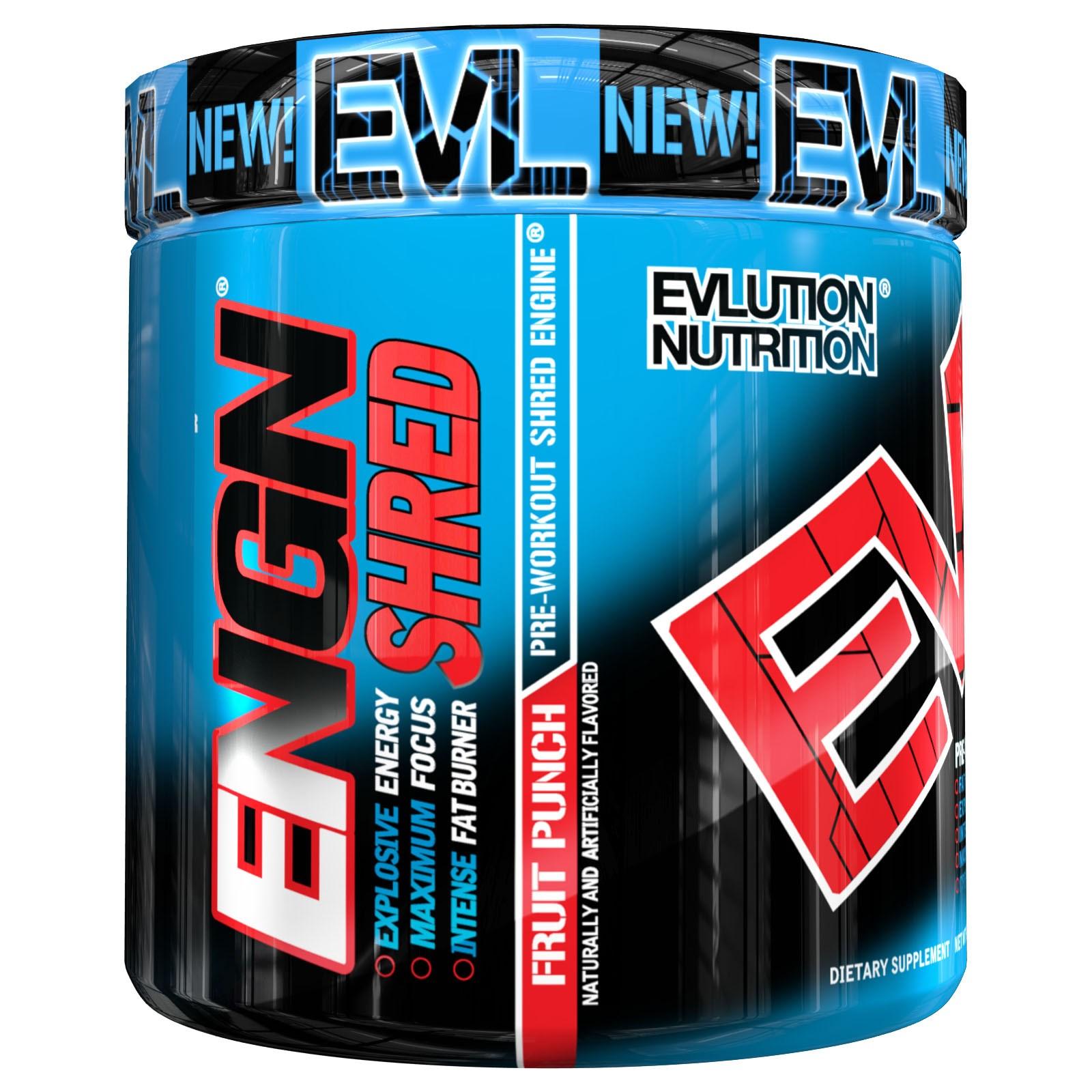 Evl Engn Shred Pre-Workout Fruit Punch 30Sv 237G #Engnshfp30