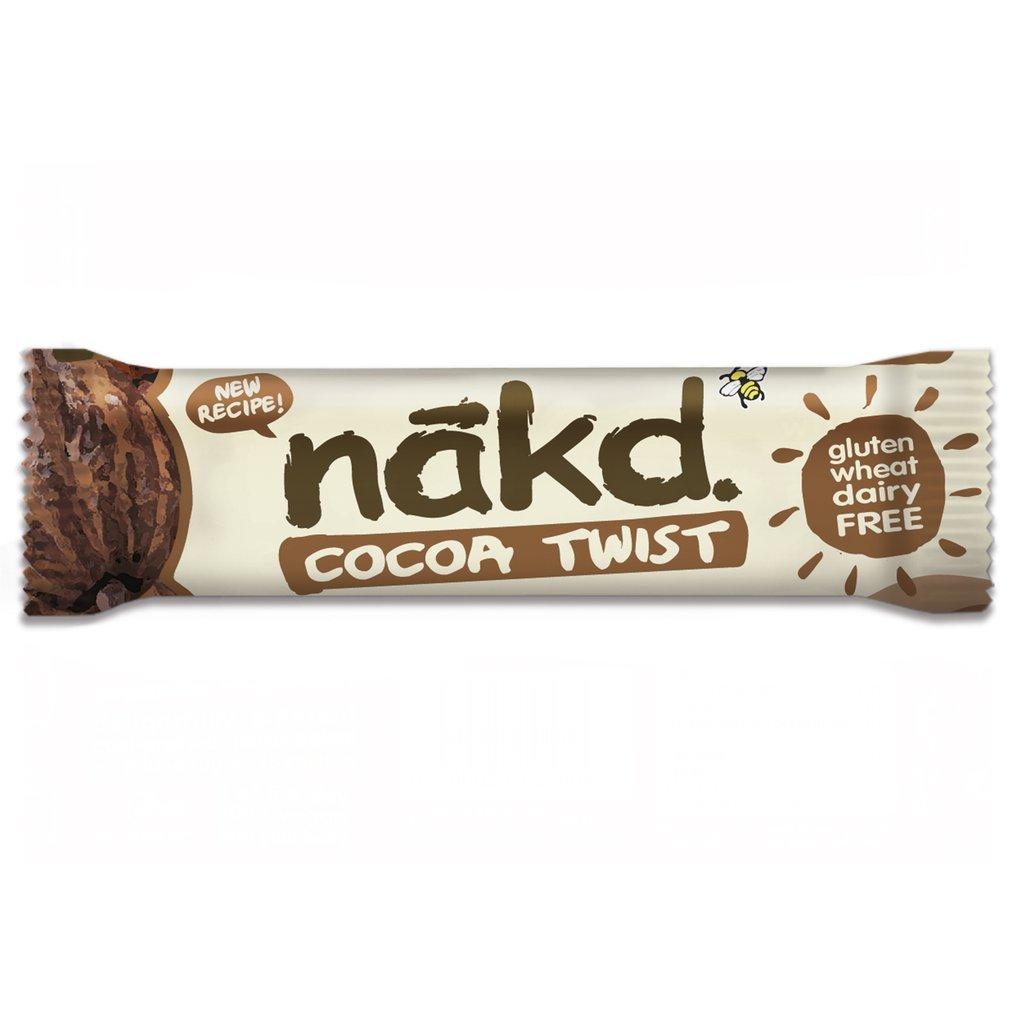 Nakd G/F Cocoa Twist Bar 30Gm 30Nkdbbloat