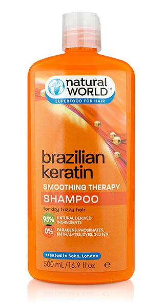 Nat World Keratin Oil Shampoo 500Ml