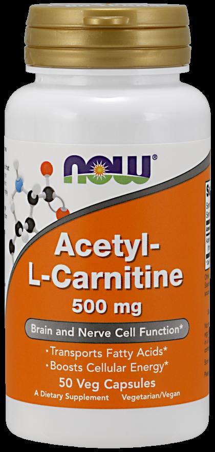 Now Acectyl-L-Carnitine 500Mg 50Caps