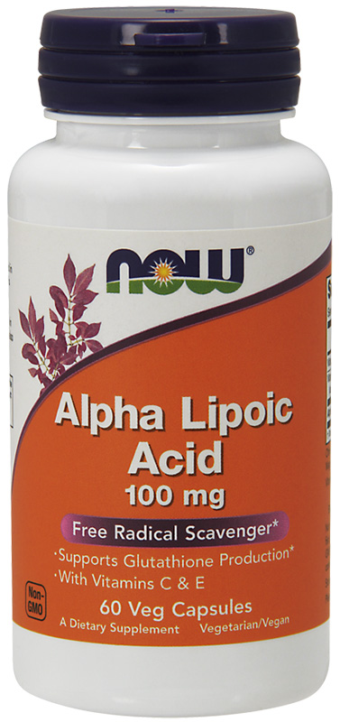 Now Alpha Lipoic Acid 100Mg 60Vcaps