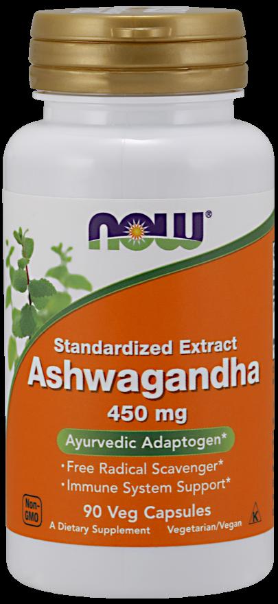 Now Ashwagandha 450Mg 90 Caps