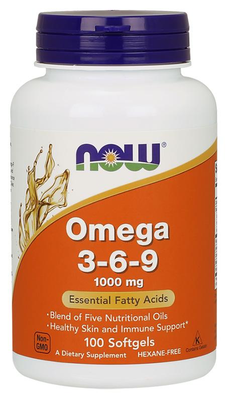 Now Omega 3-6-9 Softgels 100'S