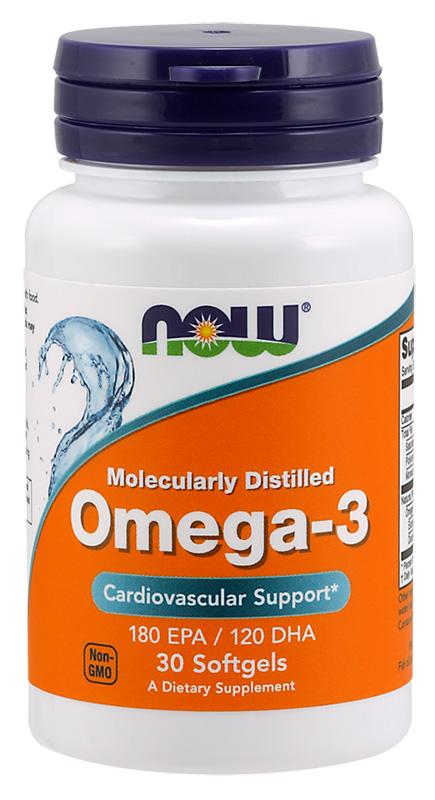 Now Omega 3 Softgels 100'S
