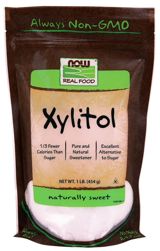 Now Xylitol 100% Nat Sweeterner 454Gm