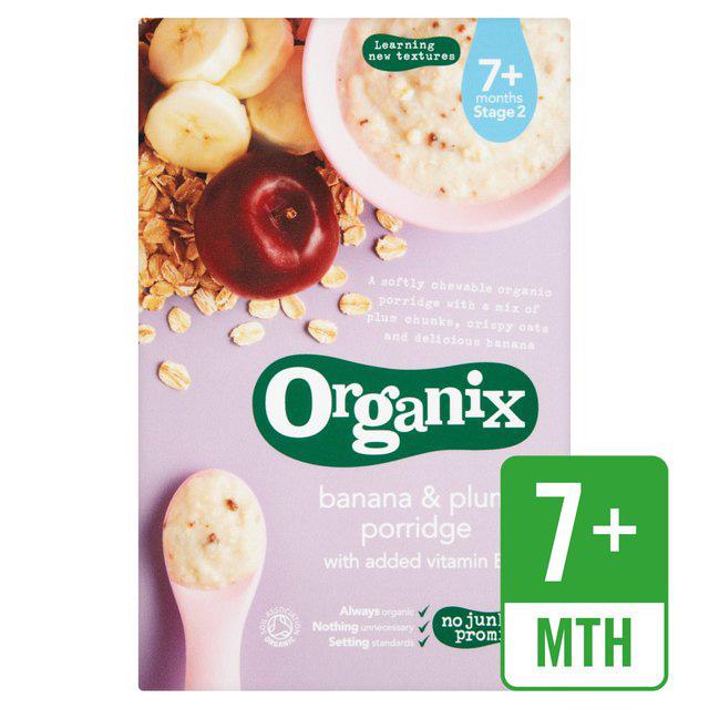 Organix Cereals Stg2 Banana&Plum Porridge 120G