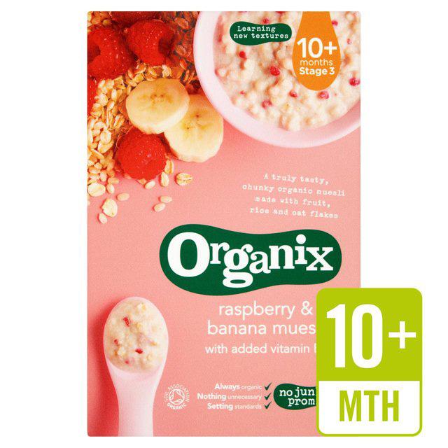 Organix Cereals Stg3 R/Berry& Banana Muesli 200G