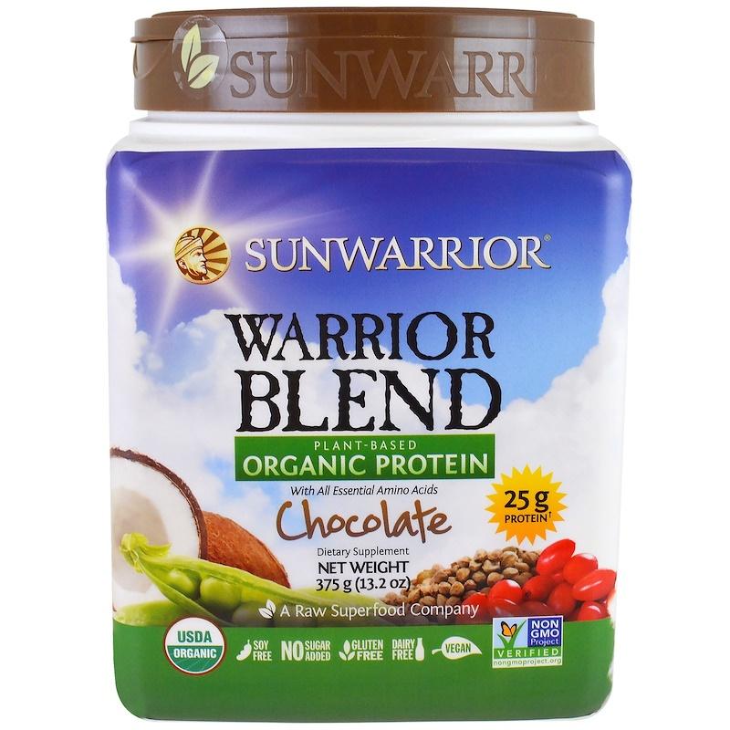 Sunwarrior Blend Organic Protein - Choc 375G