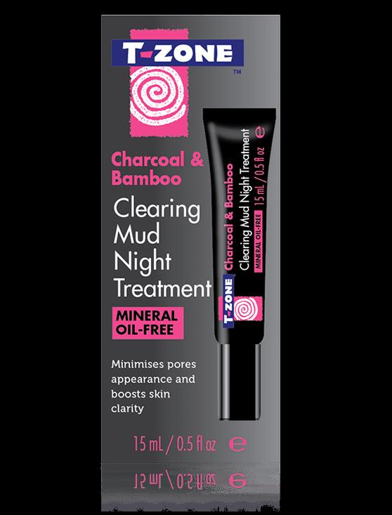 T-Zone Charcoal & Bamboo Clearing Mud Night Trtmnt 15Ml #01100Tzc