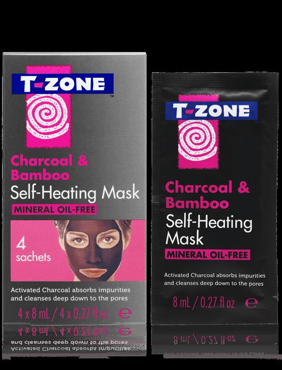 T-Zone Charcoal & Bamboo Self Heating Mask 4'S #01095Tzc