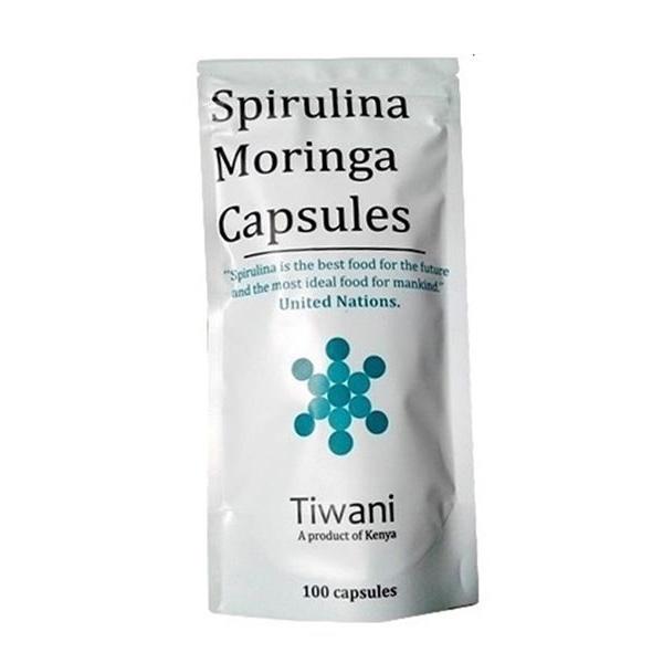 Tiwani Spirulina Moringa Capsules 100Caps