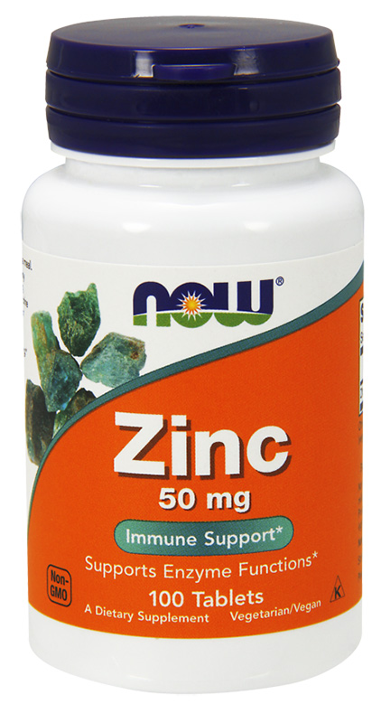 Now Zinc 50Mg 100Tabs