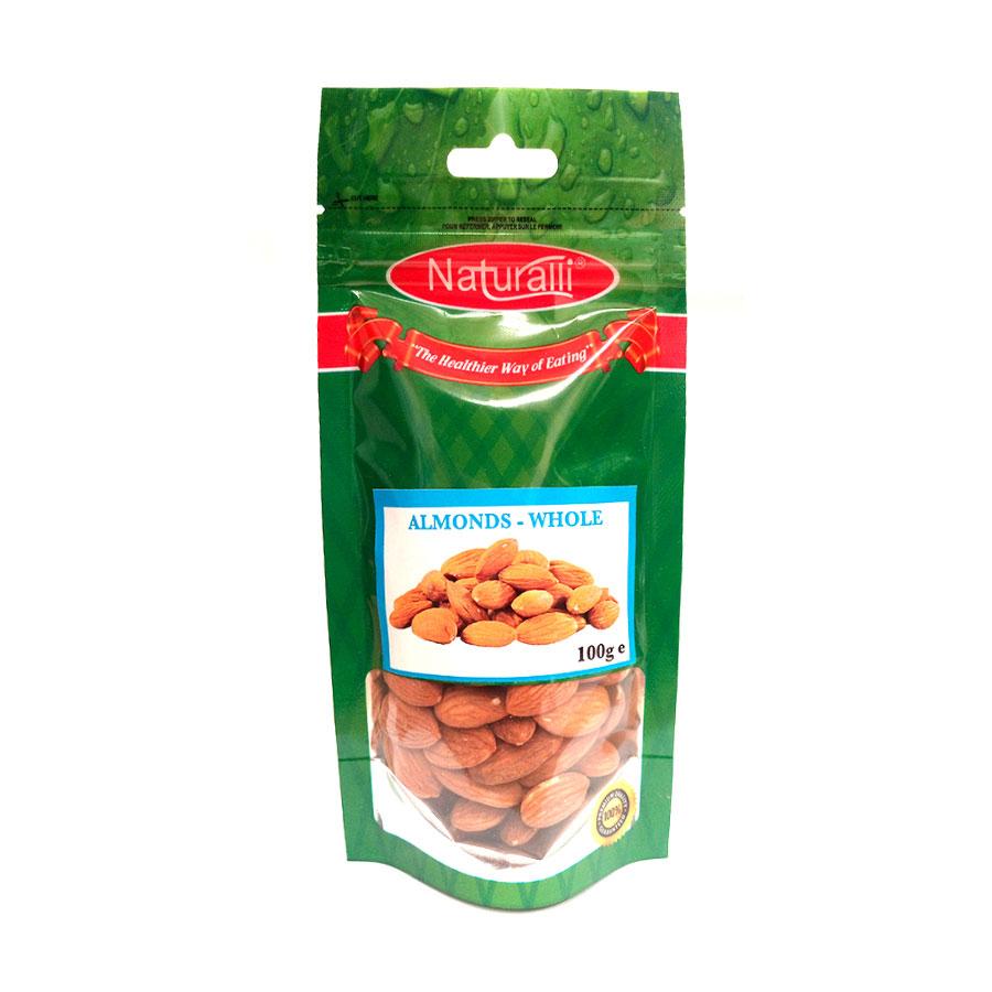 Naturalli Whole Almonds 100Gm