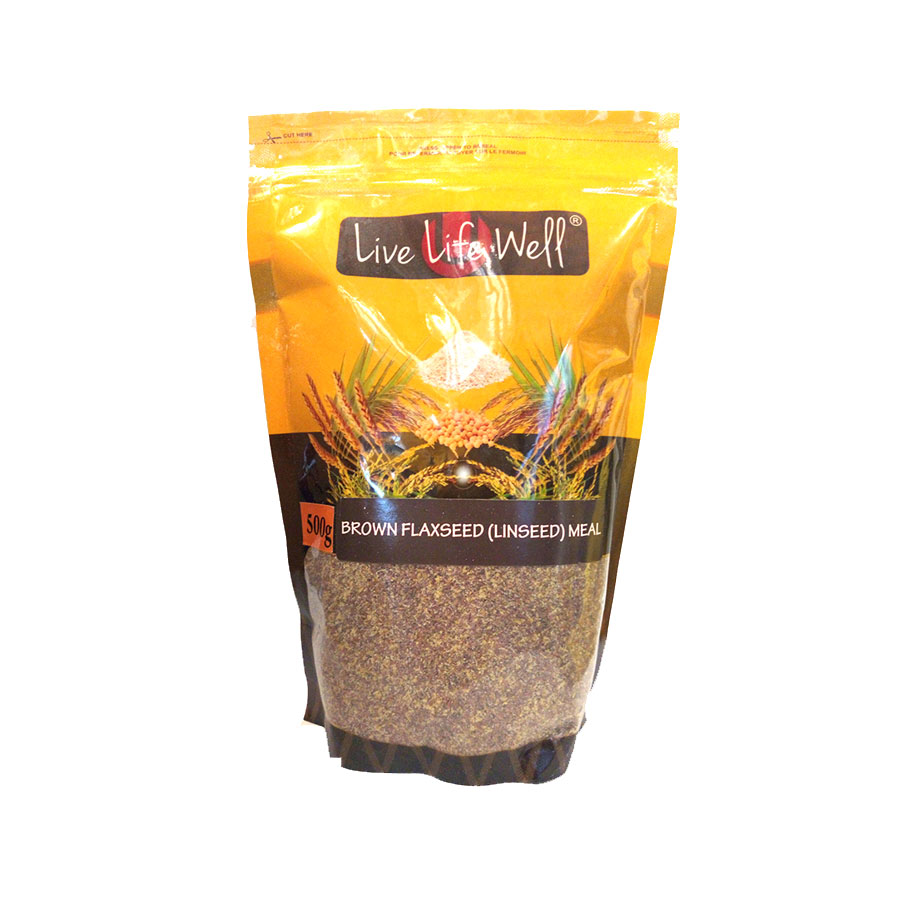 Live Life W Brown Flaxseed (Linseed) Meal 500Gm