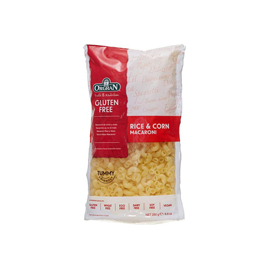 Orgran Ris O Mais Rce/Crn Macaroni 250G