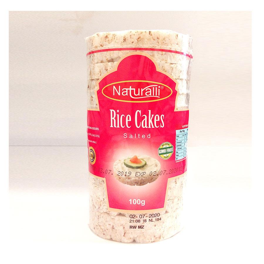 Naturalli Rice Cakes Salted 100Gm