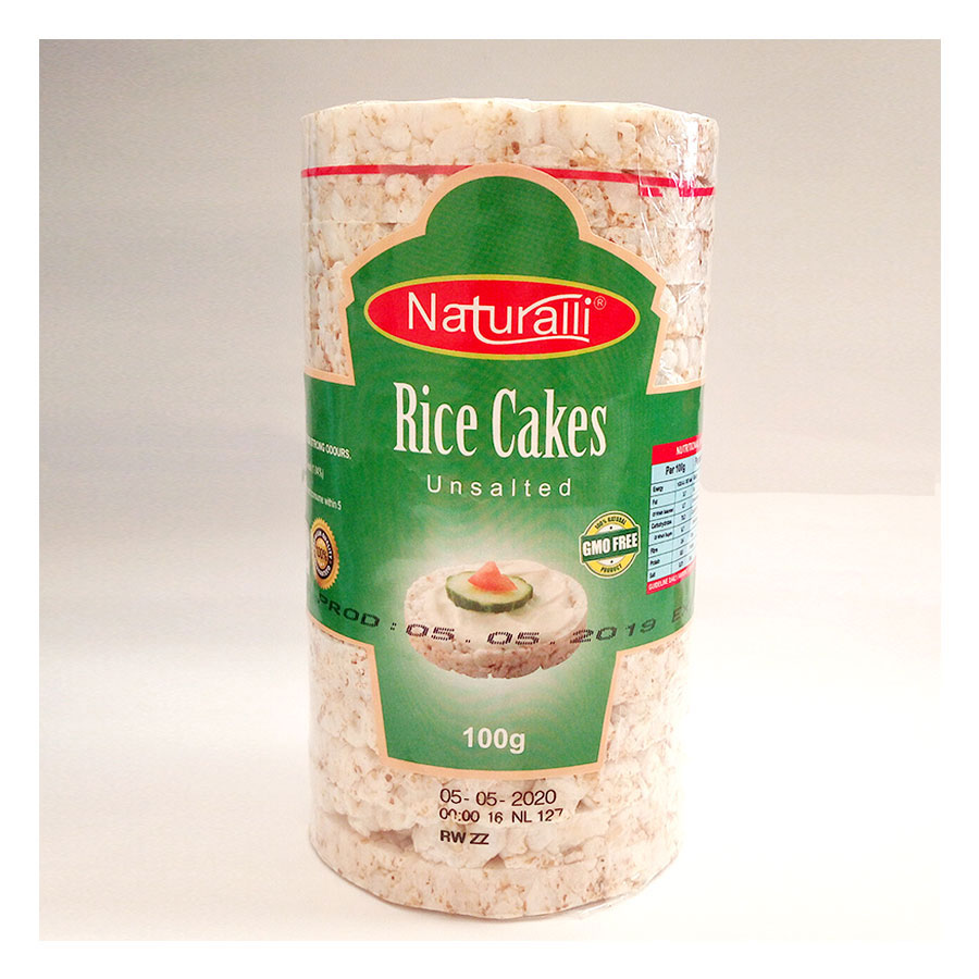Naturalli Rice Cakes Unsalted 100Gm