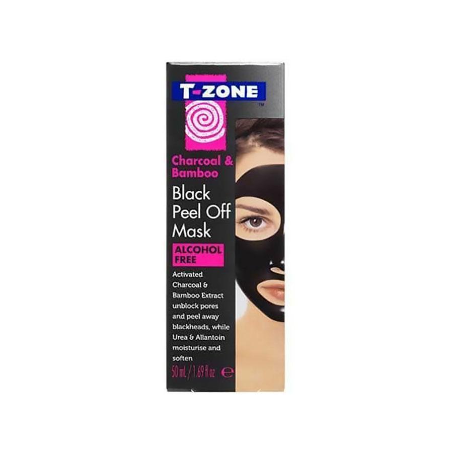 T-Zone Charcoal & Bamboo Black Peel Off Mask 50Ml #01101Tzc