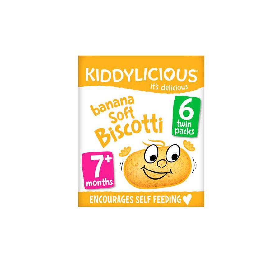 Kiddylicious Banana Soft Biscotti 120G