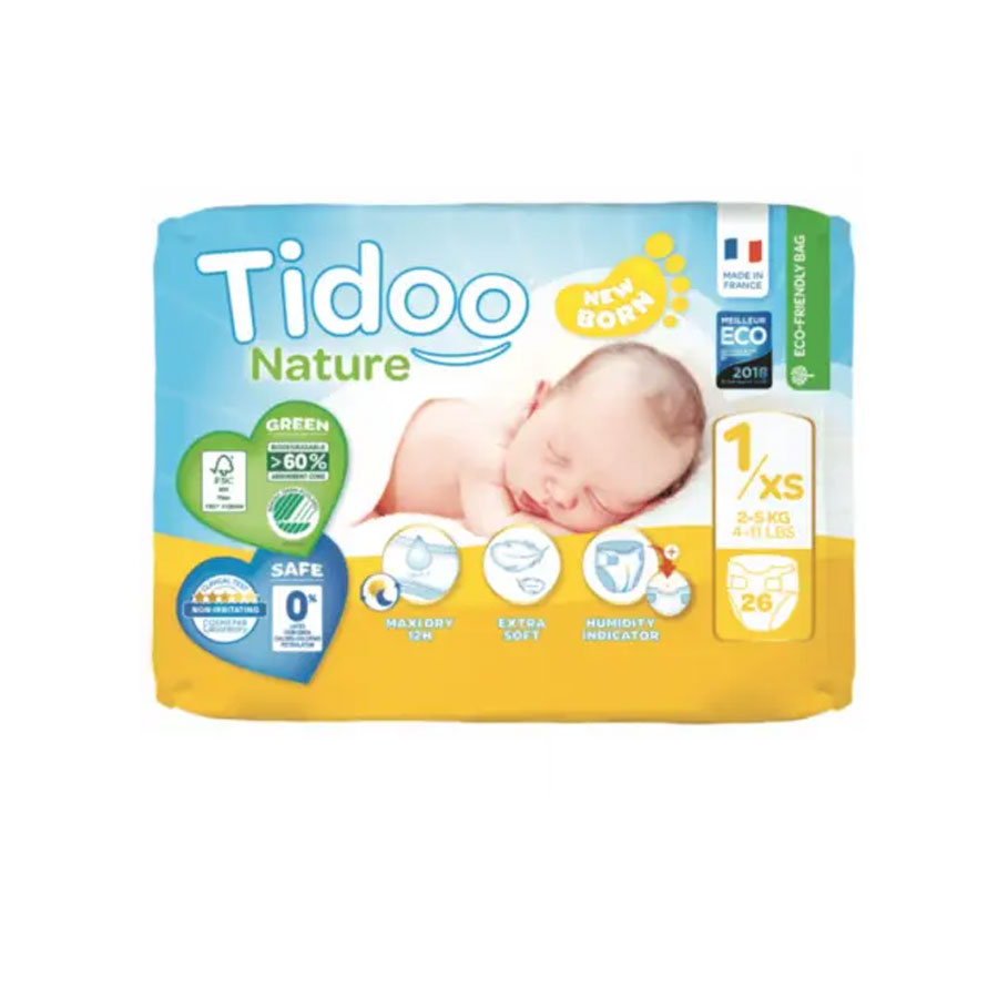 Tidoo Nature New Born Diapers 1/Xs 2-5Kg 26'S