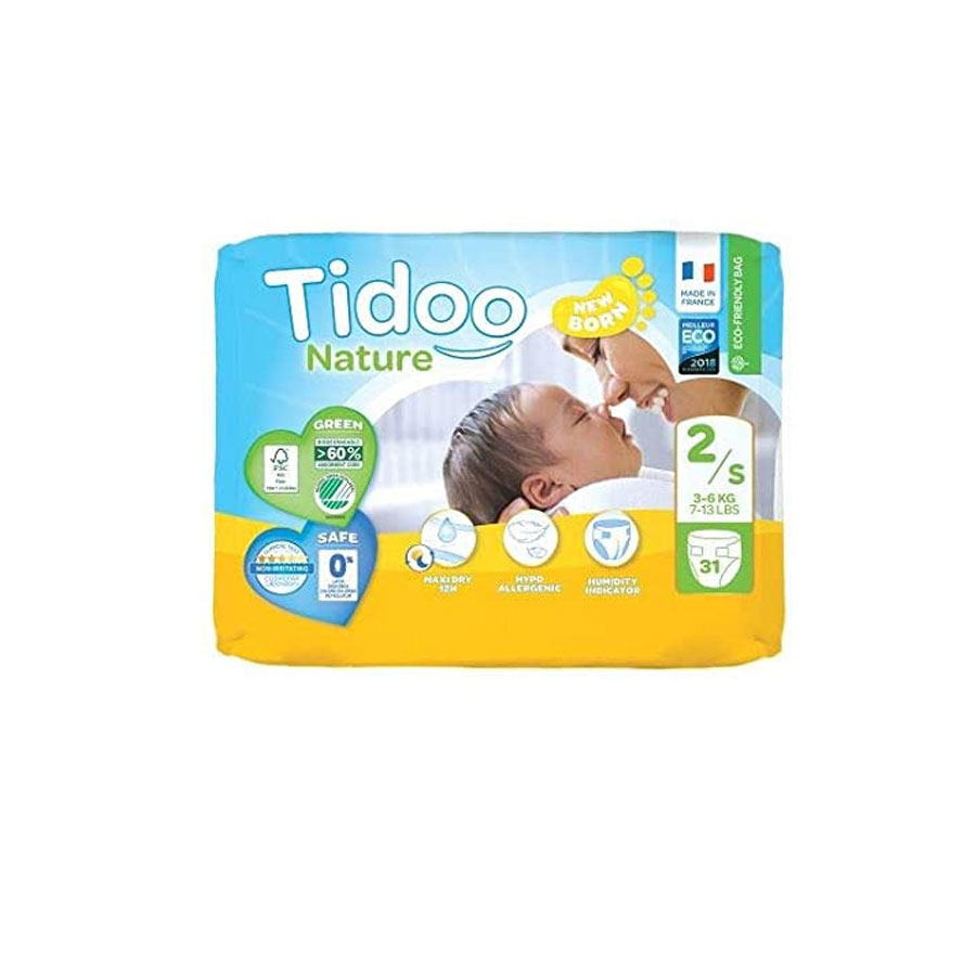 Tidoo Nature New Born Diapers 2/S 3-5Kg 31'S