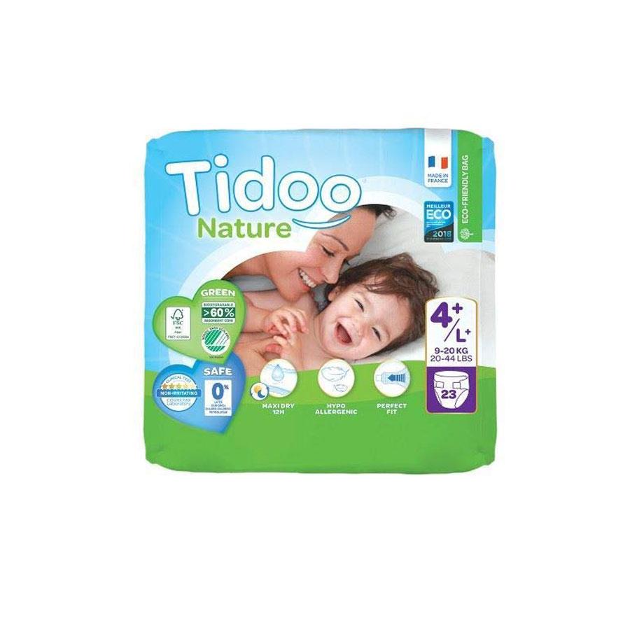 Tidoo Nature New Born Diapers 4/L 7-18Kg 24'S