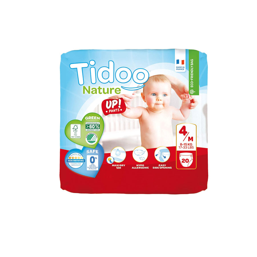 Tidoo Nature New Born Diapers 4/M 8-15Kg 20'S