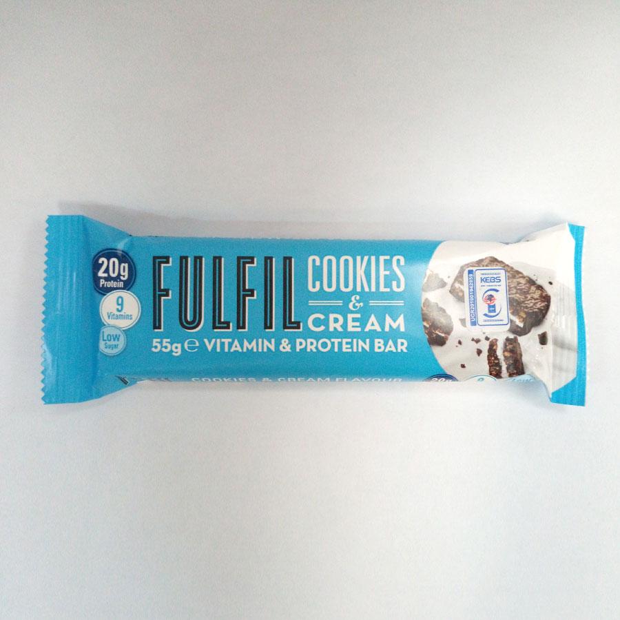 Fulfil Cookies & Cream Protein Bar 55G #Fulckc15